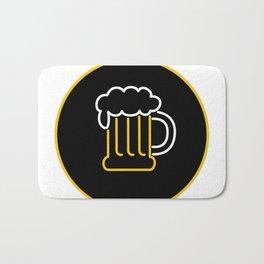 Beer Mug Foam  Neon Sign Icon Bath Mat