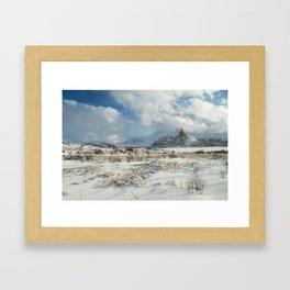 The Land of snow Framed Art Print