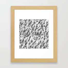 White Butterflies Framed Art Print