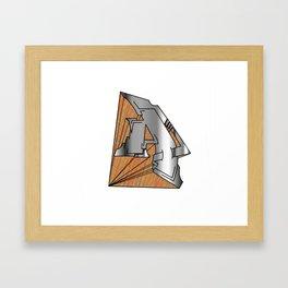 The Letter A Framed Art Print