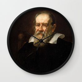 Galileo Galilei - Astronomer and Mathematician Wall Clock