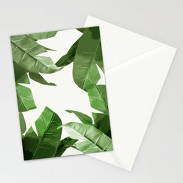 Tropical Palm Print Treetop Greenery Stationery Cards