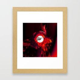 red_lights_black_hover Framed Art Print