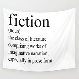 Fiction Definition (Black on White) Wall Tapestry