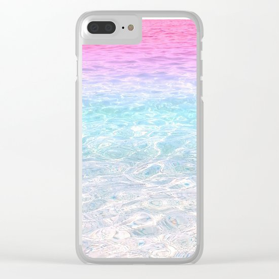 Pink and Blue Sea Clear iPhone Case