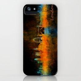 London City Skyline HQ v4 iPhone Case