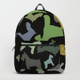 schnauzer pattern *black* Backpack