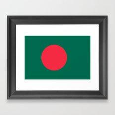 Bangladeshi Flag, High Quality image Framed Art Print