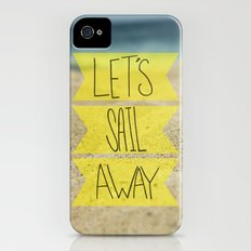 Let's Sail Away: Sandy Beach Slim Case iPhone (4, 4s)