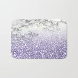 She Sparkles - Violet Purple Glitter Marble Bath Mat