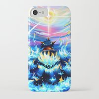 gurren lagann iPhone & iPod Cases featuring Gurren Lagann - Burning Soul by Cielo+