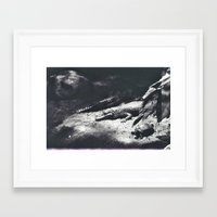 crocodile Framed Art Prints featuring Crocodile by Lydia Brodde