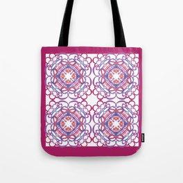Gender Equality Tiled - Raspberry Purple Tote Bag
