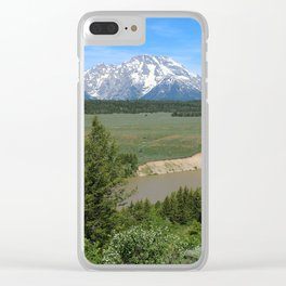Snake River And Grand Teton Range Clear iPhone Case