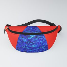 Red with blue polycon Fanny Pack
