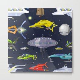 space traffic Metal Print