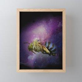 Bee Galaxy Framed Mini Art Print