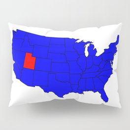 State of Utah Location Pillow Sham