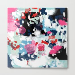 Paige - abstract painting hipster home decor trendy color palette art gifts Metal Print