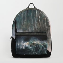 Monsters of Nazare (oil on canvas) Backpack