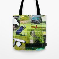 golf Tote Bags featuring Golf by Andrew Sliwinski
