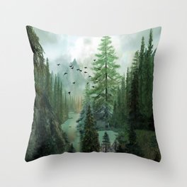 Mountain Morning 2 Throw Pillow