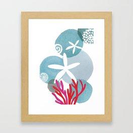 Tourquise Seaside Framed Art Print