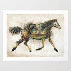 Wild Horse Surrealism Art Print