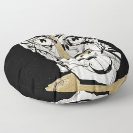 Golden Floor Pillow