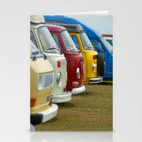 vans Stationery Cards featuring Camper Vans by Jainbow