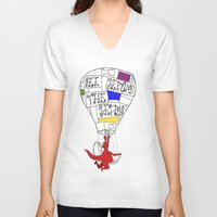 hot air balloon V-neck T-shirts featuring Hot Air Balloon  by Ben Jones