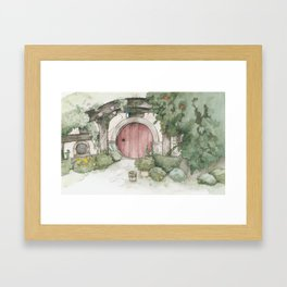 Hobbithole 3. Framed Art Print