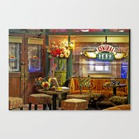 central perk Canvas Prints featuring Central Perk by voxavila