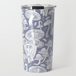 Delicious Autumn botanical poison IV // blue grey background Travel Mug