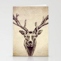 elk Stationery Cards featuring Elk  by Werk of Art