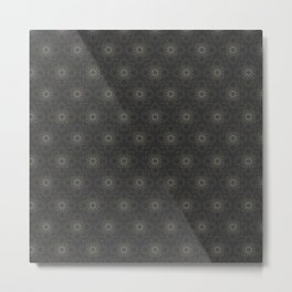 Contemporary Floral Pattern Metal Print