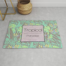Tropical Paradise: Jade Jungle Rug