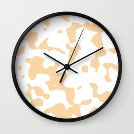 Large Spots - White and Sunset Orange Wall Clock