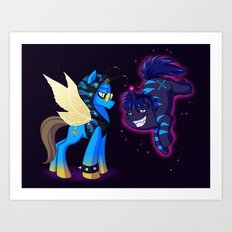 Mad T Ponies 'Absolem and Chesshur' Art Print