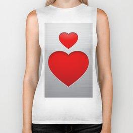 Valentines's Day Heart Biker Tank