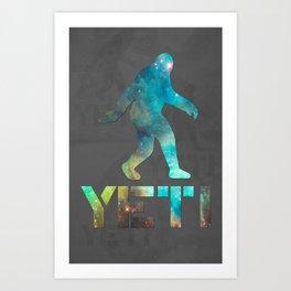 Yeti Galaxy Art Print