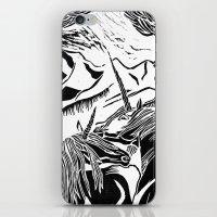 unicorns iPhone & iPod Skins featuring Unicorns by Lily Livingston