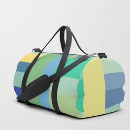 Abstract Blue Mint Green Geometry Duffle Bag