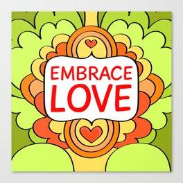 Embrace love Canvas Print
