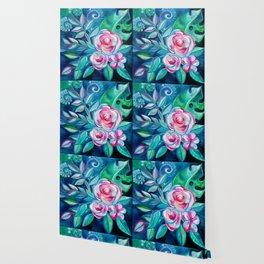 Tropical Camellia Extravaganza - oil on canvas Wallpaper