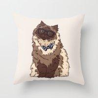 finn Throw Pillows featuring Finn by Faryn Hughes