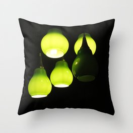 Green Lamps Throw Pillow