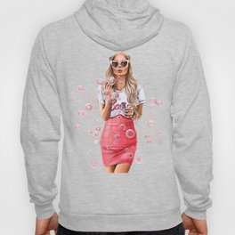 Girl with bubbles Hoody