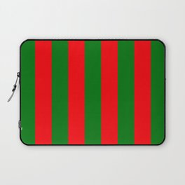 Wide Red and Green Christmas Cabana Stripes Laptop Sleeve