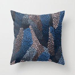 Deep ocean pattern Throw Pillow